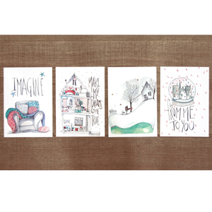 Oysho Christmas postcards