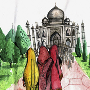 Taj Mahal- The Sketchbook Project by The Brooklyn Art Library (NY)